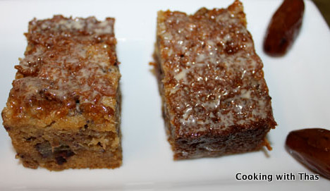 Dates cake in Caramel Sauce