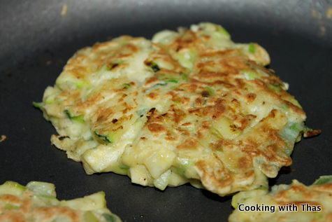 Zucchini Scallion Pancakes Cooking With Thas
