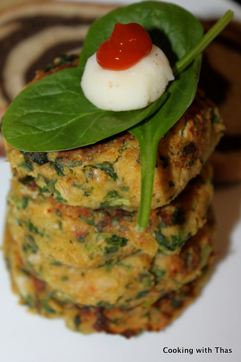 chickea-spinach cutlet