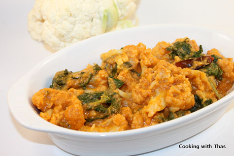 Cauliflower Fenugreek Leaves Korma