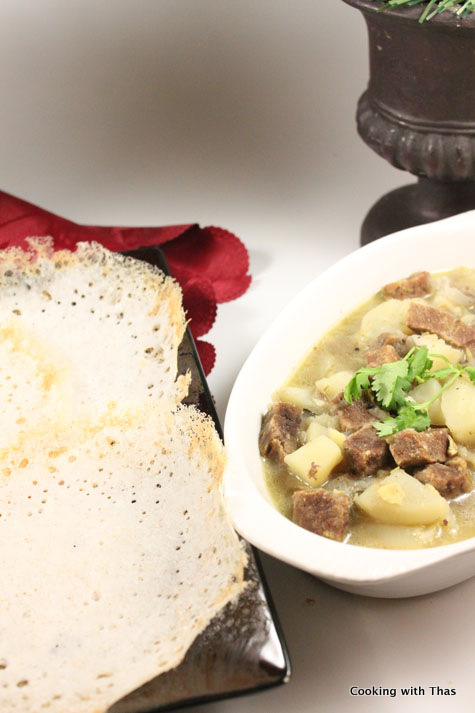 Beef stew kerala beef stew beef in rich coconut gravy for Appam and chicken stew kerala cuisine