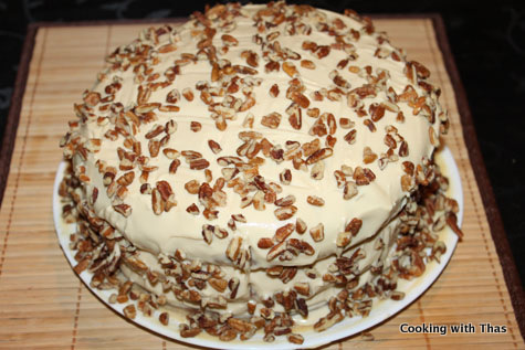 Butterscotch Pecan Cake With Butterscotch Frosting | Cooking With Thas