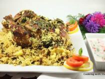 Thas's signature-whole chicken biryani