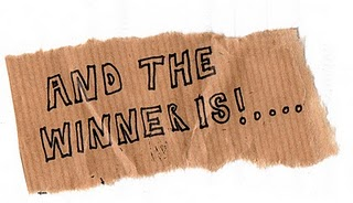 Cookbooks giveaway winner is...