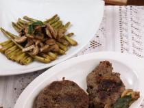 baked mint lamb and asparagus mushroom stir fry