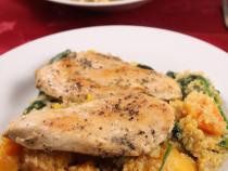 quinoa salad with chicken cutlets
