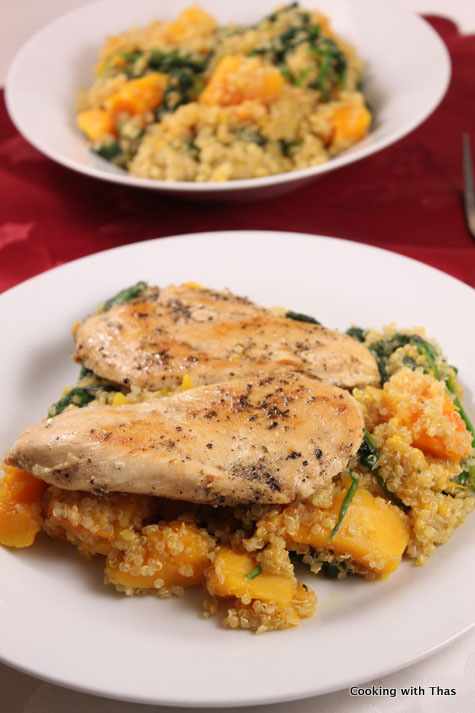 butternut squash penne pan cooked chicken thighs with butternut squash ...