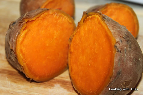 Mashed Sweet Potatoes - Weight Loss Recipe Cooking with Thas