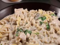 cream of mushroom and chicken-pasta