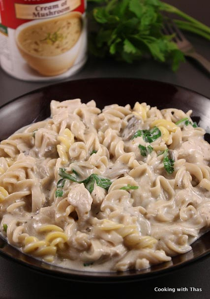 Cream Of Mushroom And Chicken Pasta Quick Fix Meal Cooking With Thas Healthy Recipes