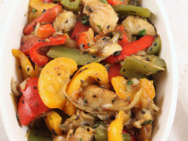 Fish and pepper stir fry