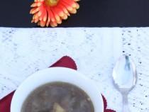 Goat leg's soup