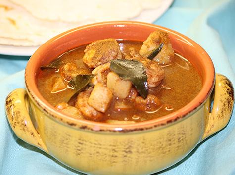 shrimp and potato curry