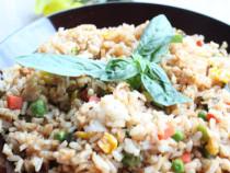basil-fried brown rice
