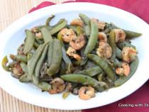 shrimp and snap peas