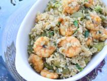 shrimp-egg brown rice