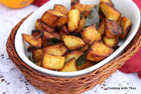 Spicy Fried Potato | Cooking With Thas