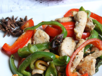 Aromatic chicken stir fry