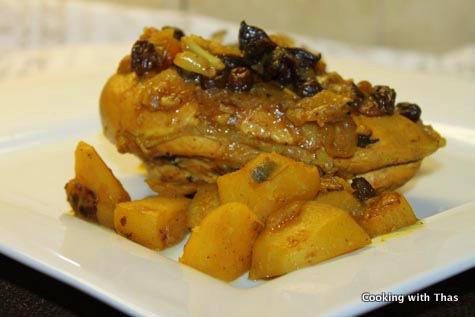 chicken-raisin tagine