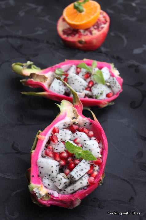 red dragon fruit healthy winter fruit salad
