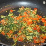 Stir frying veggies