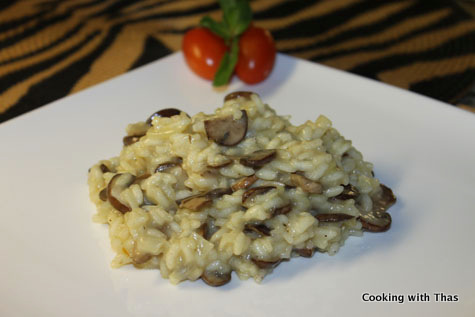 Saffron Mushroom Risotto