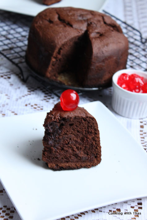 pressure cooker-chocolate cake