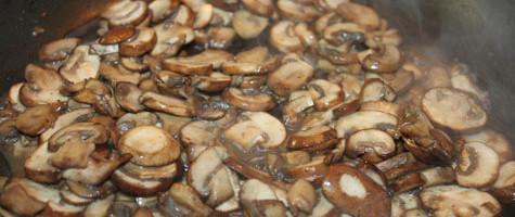 sauteing mushroom