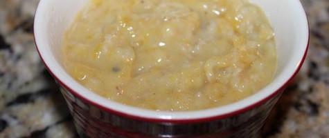 jackfruit-oats mixture poured over coconut slices