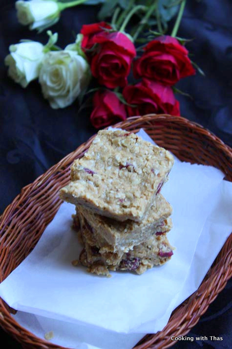 no bake oats peanut butter bars