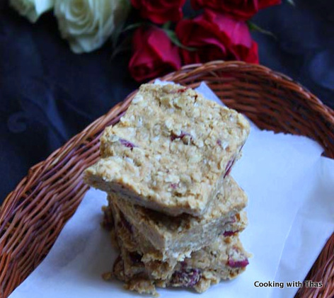 oats peanut butter bars