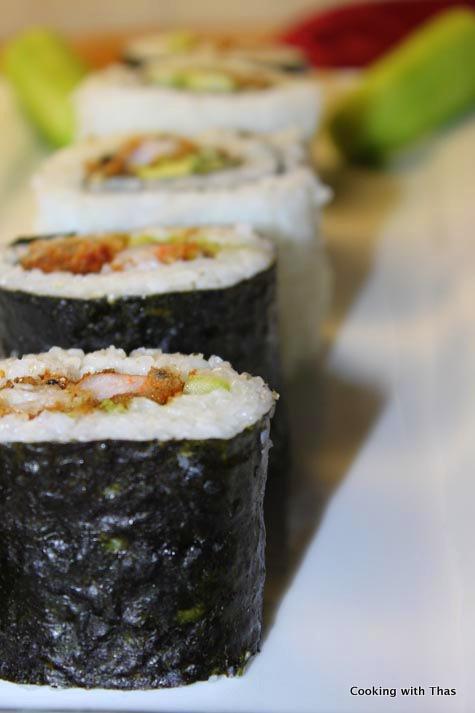 shrimp-tempura sushi
