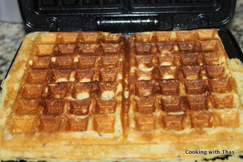making waffles