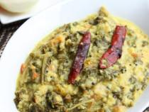Kale-mung bean curry