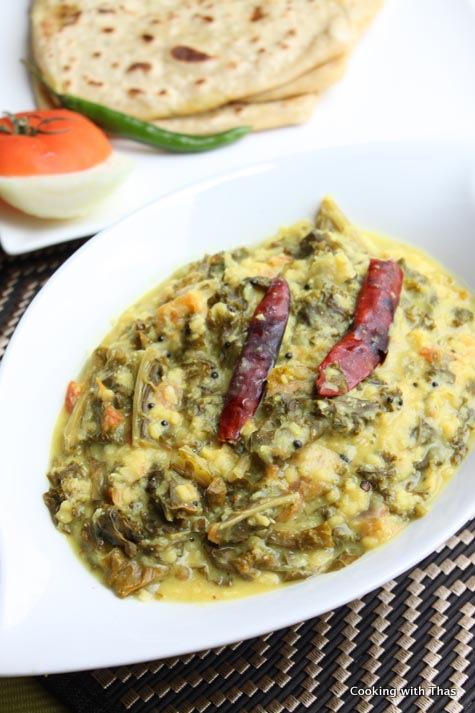 Kale Mung Bean Dal Curry Kale Mung Bean In Coconut Gravy