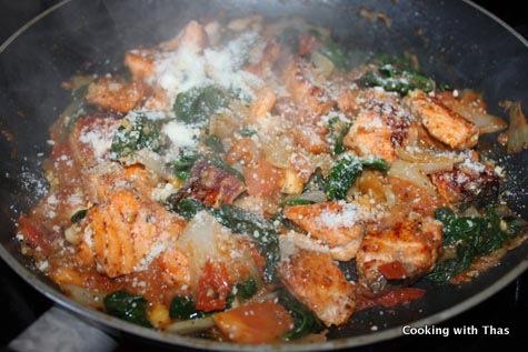 making parmesan-salmon