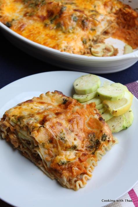 soy chunk-lasagna