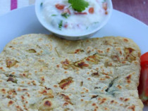 chicken stuffed-chapati