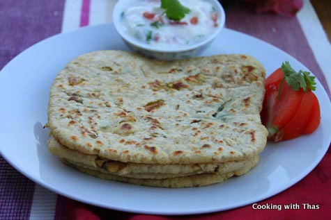 chicken stuffed chapati