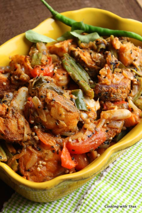 fish-okra roast
