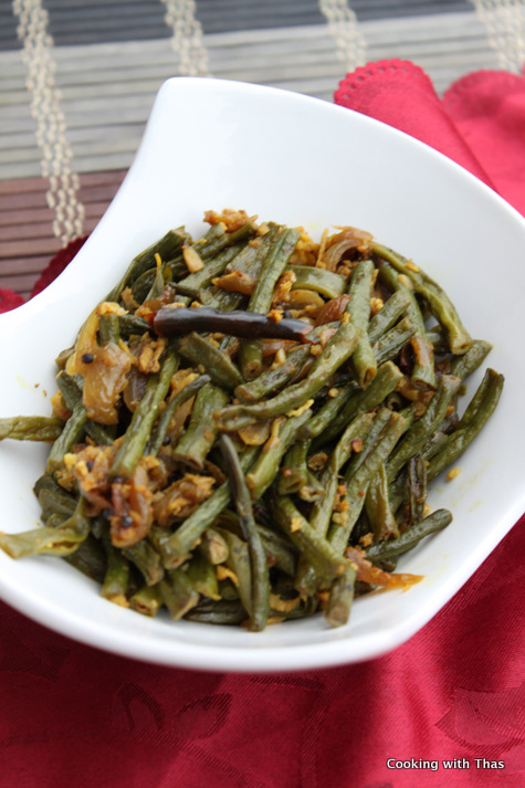 long beans stir fry