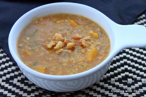 squash lentil soup