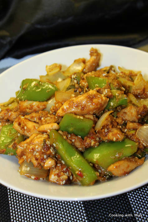 Sesame chicken indo chinese dish cooking with thas sesame chicken forumfinder Images