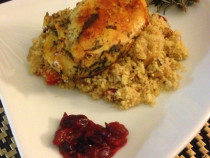 Herb chicken and couscous
