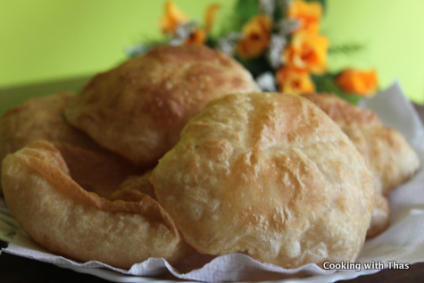 poori or fried dough