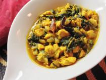 spinach-chicken curry