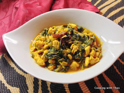spinach chicken curry