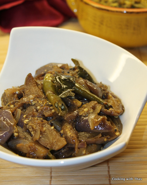 sweet and sour-eggplant