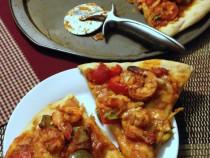 Cajun shrimp-pizza