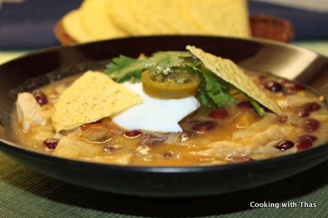 Tortilla chicken soup
